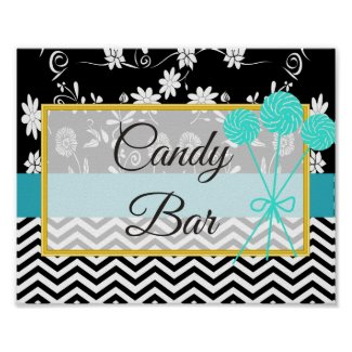 Wedding Sign for Candy Bar, Vintage Camera