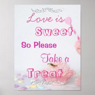 Love Is Sweet Please Take A Treat Gifts On Zazzle