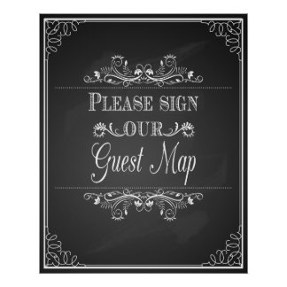 """""""wedding sign for """"Please sign our Guest Map"""