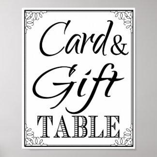 Wedding sign Gift & Card Table vintage