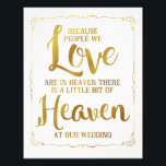 "wedding sign, heaven at wedding, gold photo print<br><div class=""desc"">wedding sign Please leave your advice &amp; well wishes sign</div>"