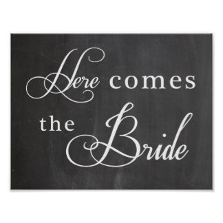 Wedding sign - Here comes the Bride