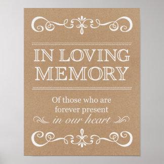 Wedding Sign –In Loving Memory Rustic Wedding Sign
