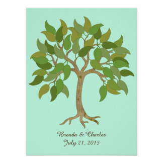 Wedding Sign In Tree Poster