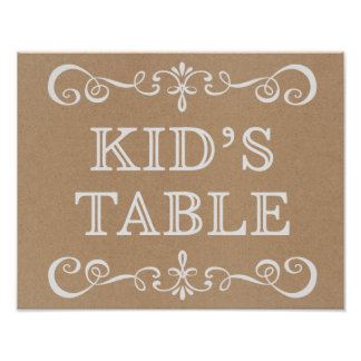 Wedding Sign – Kid's Table Rustic Wedding Sign