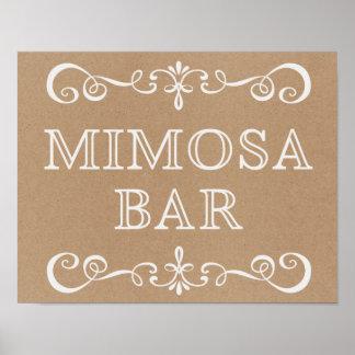 Wedding Sign – Mimosa Bar Rustic Wedding Sign