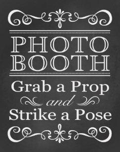 Wedding Sign Photo Booth Chalkboard