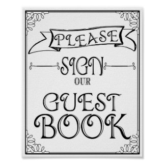 Wedding sign Please sign our guest book Poster