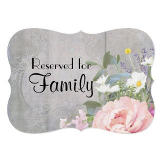 Wedding Sign Reserved Family Rustic Floral Elegant Card