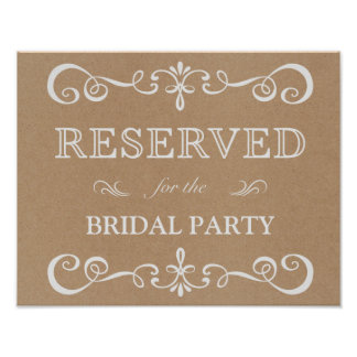 Wedding Sign – Reserved Table Rustic Wedding Sign