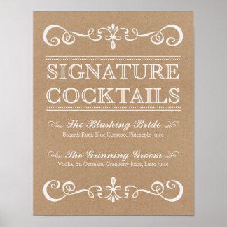 Wedding Sign – Signature Cocktail Rustic Sign