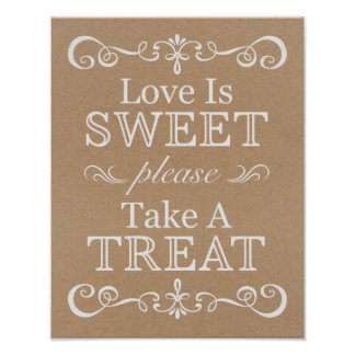 Wedding Sign – Take A Treat Rustic Wedding Sign