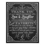 Wedding sign thank you from new Mr & Mrs Poster