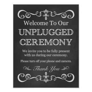 Wedding Sign – Unplugged Ceremony Chalkboard Sign