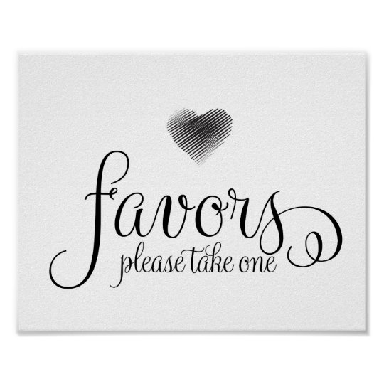 Wedding Sign Wedding Favors Sign Zazzle