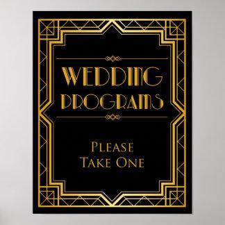 Wedding Sign Program Gatsby