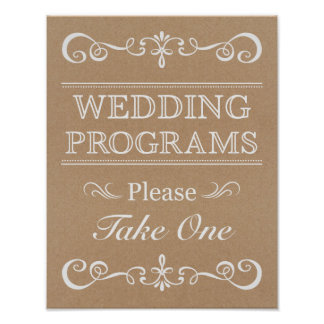 Wedding Sign – Wedding Program Rustic Wedding Sign
