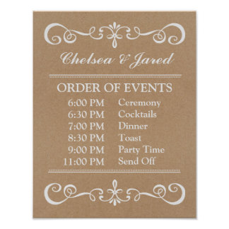 Wedding Sign – Wedding Schedule Rustic Sign