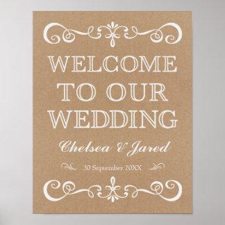 Wedding Sign – Wedding Welcome Rustic Wedding Sign