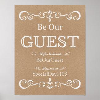 Wedding Sign – Wifi Password Rustic Wedding Sign