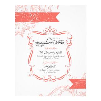 Wedding Signature Drink  |  Coral Letterhead