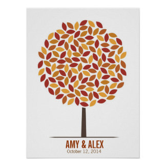 Wedding Signature Tree – Fall Poster