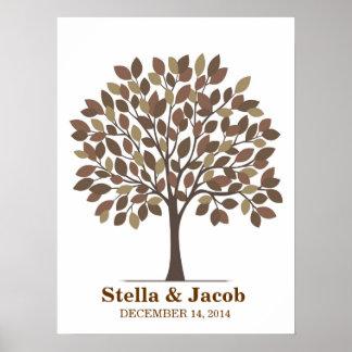 Wedding Signature Tree Poster – Natural Brown