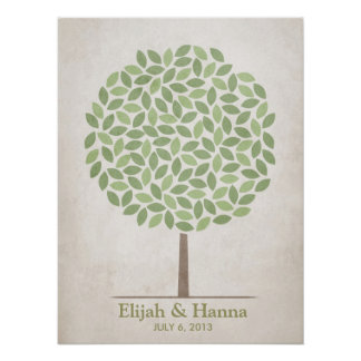 Wedding Signature Tree – Rustic Poster