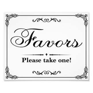 Wedding signs - Black & White - Favors - Photo Print