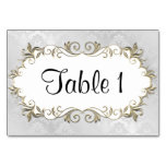 Wedding Silver Frame Table Cards