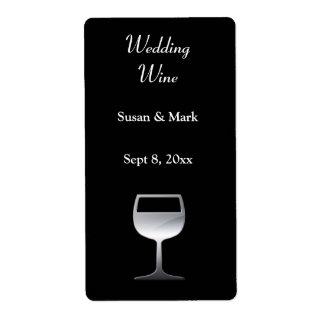 Wedding Silver Wine Label Shipping Label