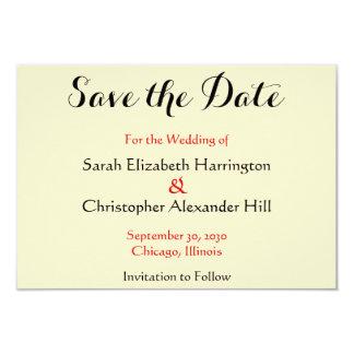 Wedding Simple Interlocking Hearts Save the Date Card