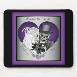 Wedding Skulls Mouse Pad