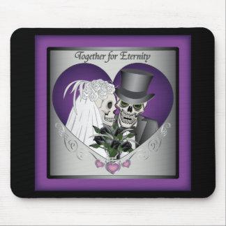 Wedding Skulls Mousepad