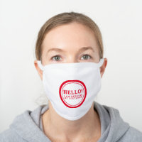 Wedding social distancing guest care red hello white cotton face mask