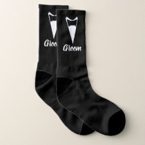 Wedding Socks for Groom Your Background Color