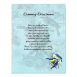 Wedding Songbirds Informational Sheet 4.25x5.5 Paper Invitation Card