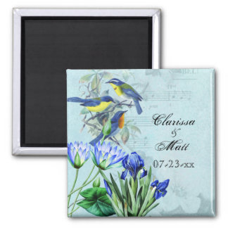 Wedding Songbirds Names and Date Magnet