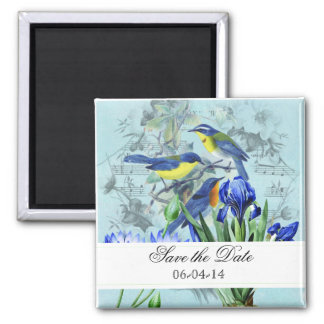 Wedding Songbirds Save the Date Magnet