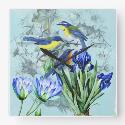 Wedding Songbirds Wall Clock
