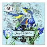 "Wedding Songbirds Wedding Invitation 5.25"" Square Invitation Card"