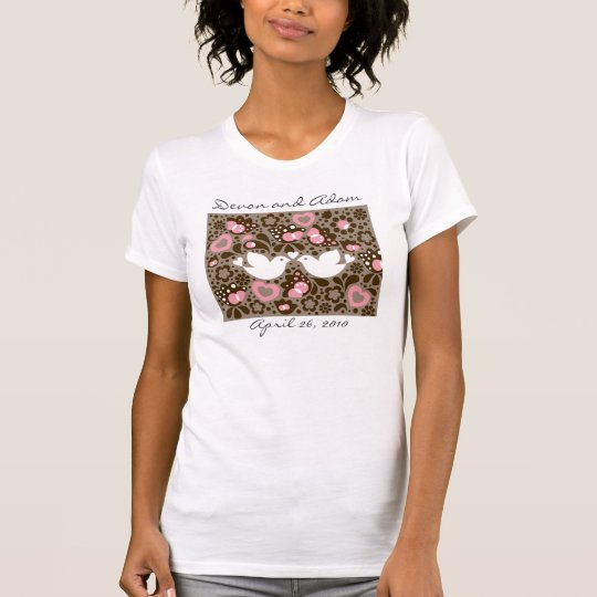 Wedding Souvenir  Love Birds Tee Shirt