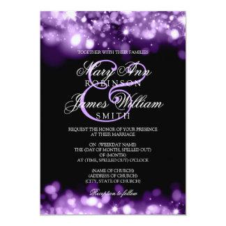 Wedding Sparkling Lights Purple Card