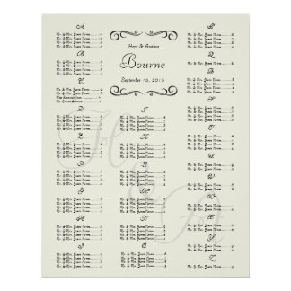 Wedding Special Event Guest Seating Chart