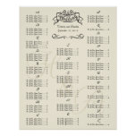 Wedding Special Event Guest Seating Chart Posters