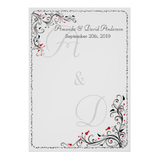 Wedding Special Event Seating Chart or Guestbook Poster