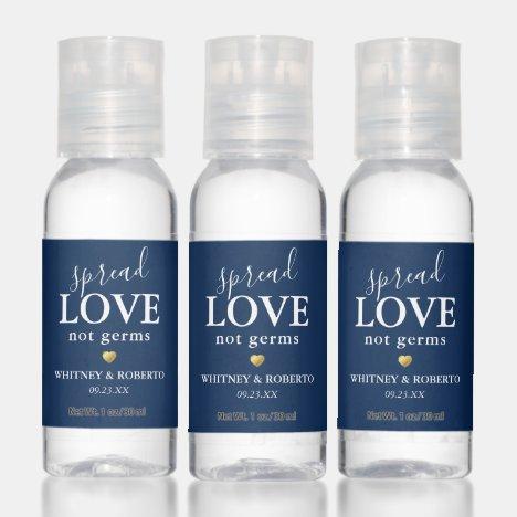 Wedding Spread Love Not Germs Hand Sanitizer