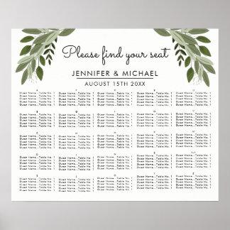 Wedding Sprigs - Alphabetical Seating Chart