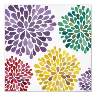 "Wedding Spring Blossoms Custom Made Invitation 5.25"" Square Invitation Card"