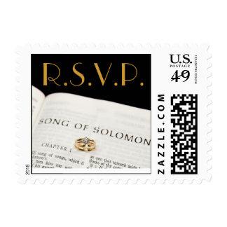 Wedding Stamp R.S.V.P.  Bib